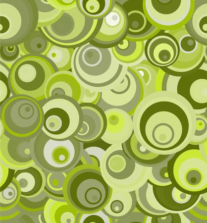 vector retro: Vector - seamless retro patern of green circles Illustration