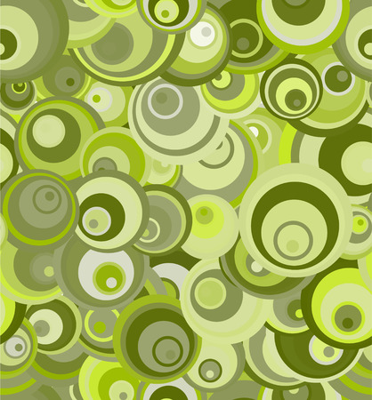 Vector - seamless retro patern of green circles Illustration