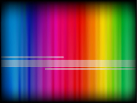 space: Vector - rainbow gradient on a black background