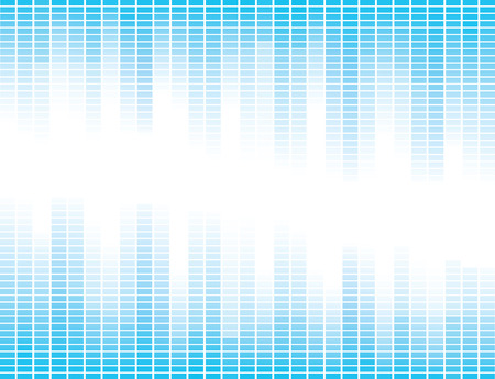 Vector design with blue equalizer bands Illustration