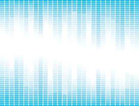 square shape: Vector design with blue equalizer bands Illustration