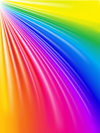 Vector - whimsical folds of rainbow colored satin