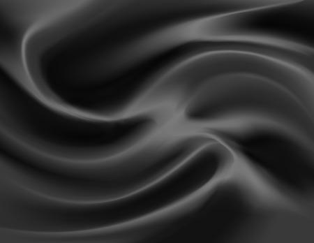 satiny cloth: Vector illustration of luxurious swirls of satin