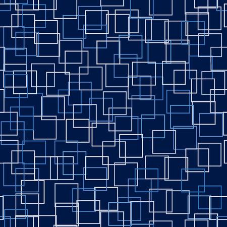 Vector - Seamless pattern avec subtilement nuancée carrés sur un fond contrasté pour une technologie résumé le sentiment