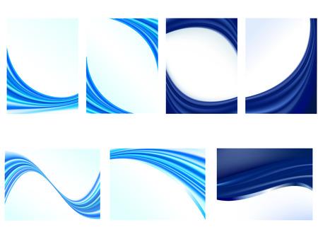 Vecteur de carte d'affaires / rapport couvrent la conception