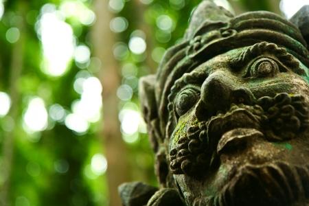taman: Balinese hindu sculpture in Taman Sari Temple, Sangeh, Bali, Indonesia