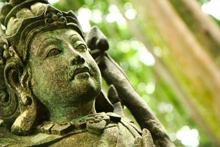 taman: Balinese hindu sculpture in Taman Sari Temple, Sangeh, Bali, Indonesia.