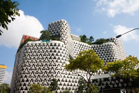 urbanized: CapitaMall building in downtown Bugis, Singapore.