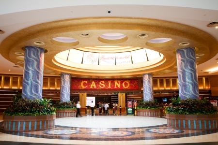 Casino in Sentosa Resorts World, Singapore.