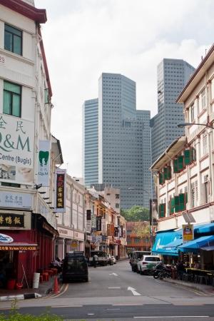 urbanized: Downtown Bugis area in Singapore.