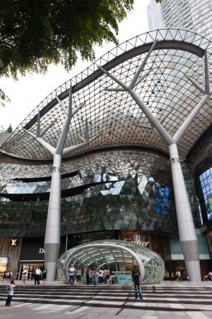 commercial district: Subway or MRT entrance in front of Ion Orchard Mall, Singapore.