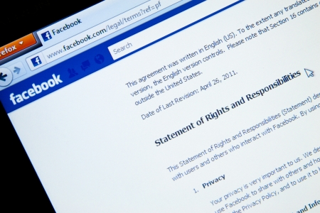 Statement of Rights and Responsibility page in Facebook social media website.