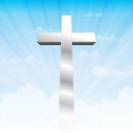 iron cross: Iron cross standing in the heavens