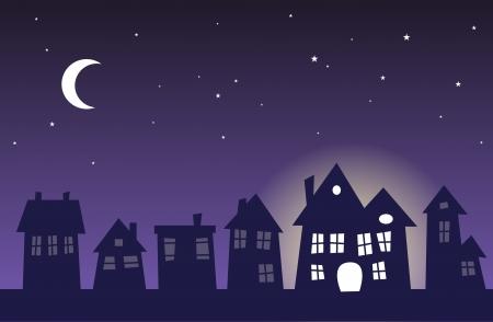 Ein Haus noch steigen in der Mitte der ruhige Nacht