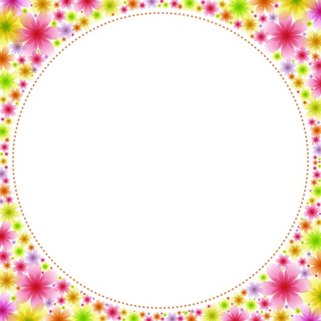 round frame: Square frame full of flowers