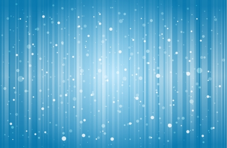 Snow falling and lines dropping on blue wintery background  Illustration