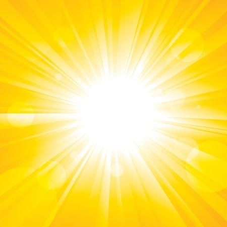 glorioso: Glorioso sol brilhante que brilha no c�u de ver�o Ilustra��o