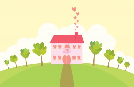 Love mansion  From the looks of it, someone Stock Vector - 14836619