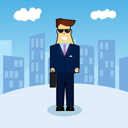 beginner: New businessman arrives in the city to start a new adventure.