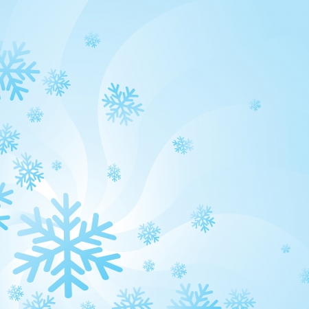 Background of hovering snow flakes in the winter season Stock Vector - 15205406