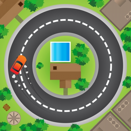 pointless: One driver driving his car in circles till the end of days  Illustration
