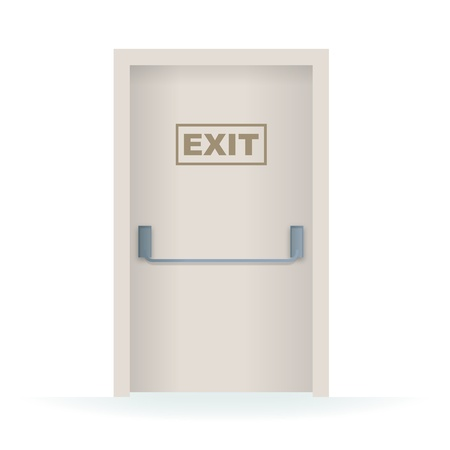 Vector Illustration of an exit door Vectores