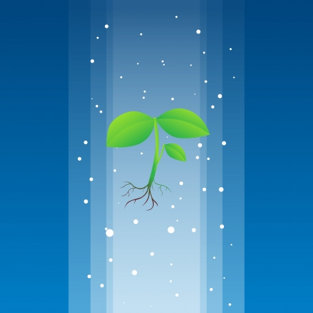 Heavenly plant descending from above to heal the earth. Stock Vector - 14964860