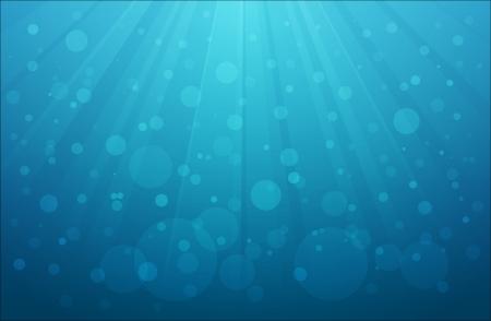Achtergrond van onderwaterscène met luchtbellen