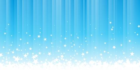 Vector footer illustration of stars splashing down. Stock Vector - 14989224