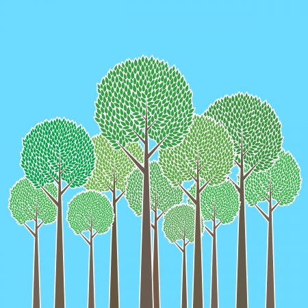 illustration of a bunch of trees. Stock Vector - 15114994