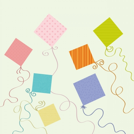 Various colorful kite designs. Illustration