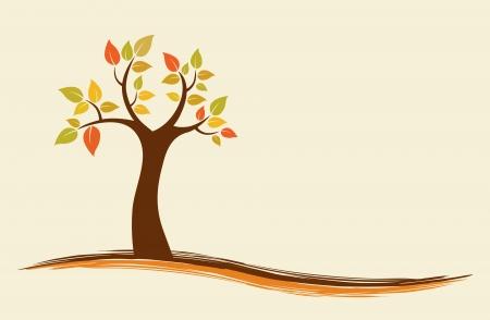 autumn tree:  background of an abstract autumn tree.