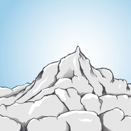 hardness: Vector illustration of a rocky mountain.