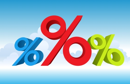 illustration of percentages. The red obviously bigger. Stock Vector - 15958347