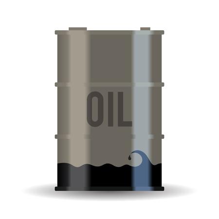 oliedrum: Vector illustratie van een bijna leeg olievat