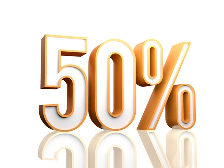 sell off: 3d render illustration of percentage number  Stock Photo