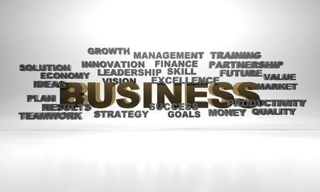 3d render illustration of business concept keywords. Stock Illustration - 17201151