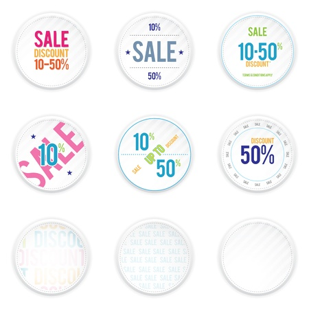 shadowy: sale white circle shadowy labels  Illustration