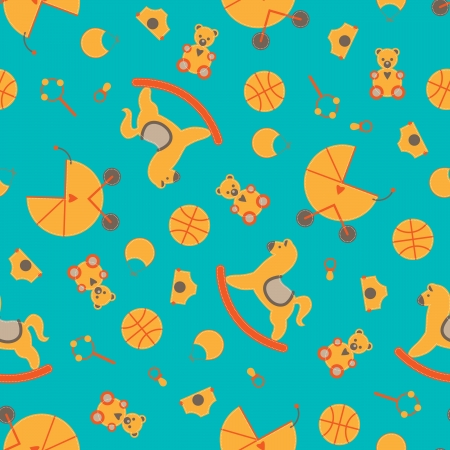 stuff toys: Seamless baby element abstract patterned background