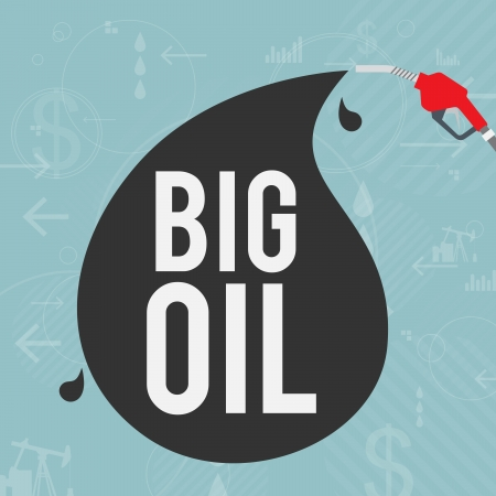 Vector illustratie van de grote olie-industrie concept.