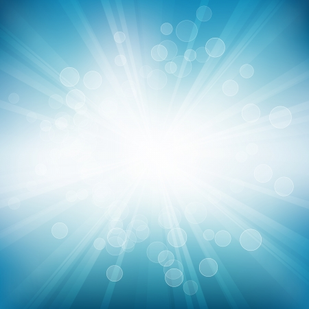 filtered: Vector blue background of circles and rays. Eps 10 file with transparencies.