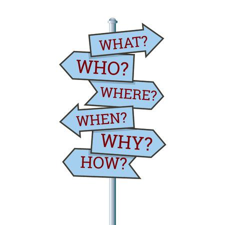 illustration of several question arrow signs  Illustration