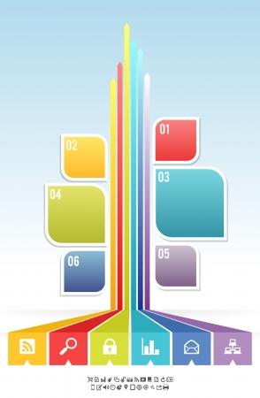 diagrama de flujo: ejemplo de gráfico hoja del árbol de mirada banners fondo Vectores