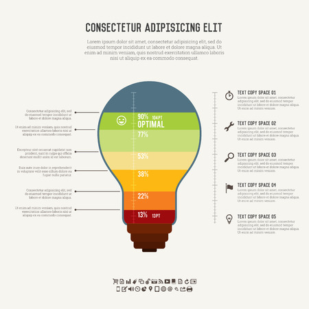 breakthrough: illustration of idea meter infographic elements