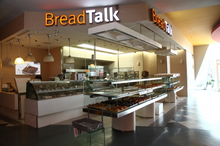 opening hours: Cilandak Town Square, Jakarta, Indonesia - October 12, 2013: BreadTalk Bakery at the opening hours at Cilandak Town Square, Jakarta. BreadTalk is a bakery retail chain based in Singapore.