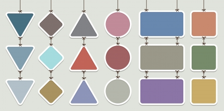 continuous: Vector illustration of several continuous hanging labels background. Illustration