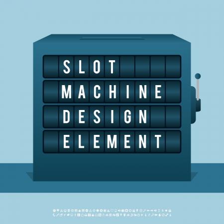 copy machine: Vector illustration of slot machine design element. Illustration