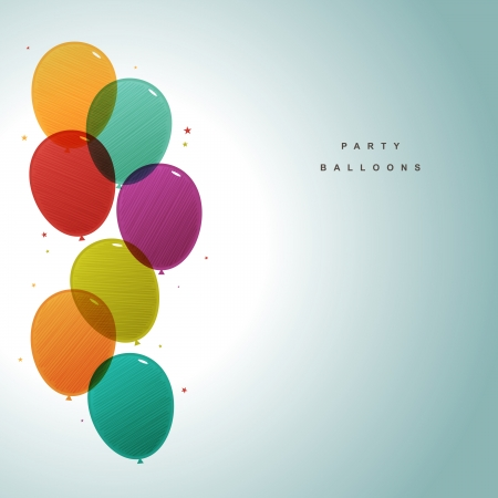 balloons party: Vector illustration of colorful party balloons with copy space. Illustration