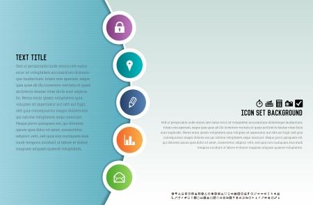 vibrant background: Vector illustration of vibrant background with icon placements. Illustration