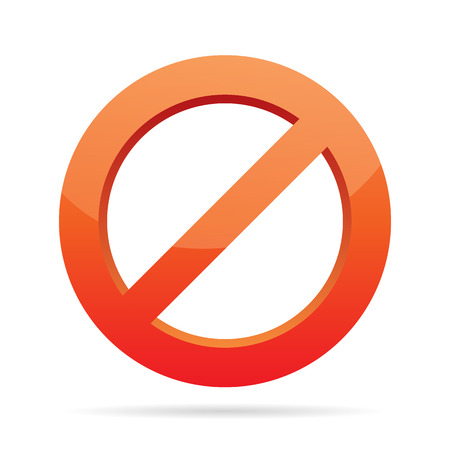 no icon: Vector illustration of forbidden sign. The file is layered so its very easy to insert your image behind the red block. Illustration